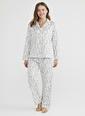 Penti Kadın  Pijama Takımı  Ana Kumaş Polyester 100,00 Ana Kumaş Polyester 100,00   Beyaz